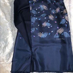 Christian Dior silk Scarf, Dior Vintage muffler